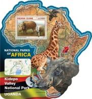 Sierra Leone 2016, National Parks, Uganda, Giraffe, Birds, 4val In BF