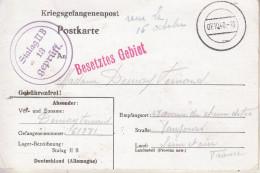 Carte De Prisonnier En Allemagne (15/09/1940) Destinée à Mme Fernand - Timbres