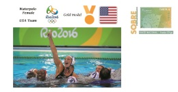 Spain 2016 - Olympic Games Rio 2016 - Gold Medal Waterpolo Female USA Cover - Juegos Olímpicos