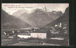 Cartolina Verrès, Veduta Generale, Guardando Le Cime Della Valle Di Champorcher - Altre Città