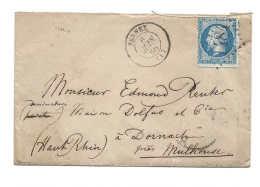 AIN De FERNEX GC 1484,  Sur Petite Lettre Avec Cachet Du  6 Juin 1866 Pour Dornach Mulhouse - Marcophilie (Lettres)