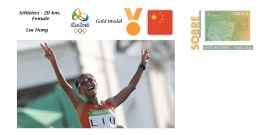 Spain 2016 - Olympic Games Rio 2016 - Gold Medal Athletics Female China Cover - Juegos Olímpicos