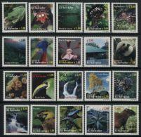 El Salvador 2000 Flora & Fauna 20v, (Mint NH), Animals (others & Mixed) - Birds - Reptiles - Frogs & Toads .. - El Salvador