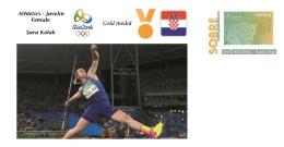 Spain 2016 - Olympic Games Rio 2016 - Gold Medal Athletics Javelin Female Croatia Cover - Juegos Olímpicos