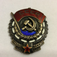 Russia/USSR Order Of The Red Banner Of Labor, Original, # 751368, Without The Ring - Russia