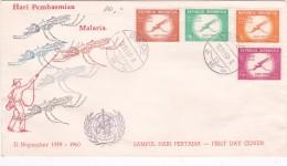 Indonesia 1960 Malaria FDC - Indonésie