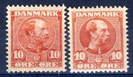#K3055. Denmark 1904-06. Michel 48 I + II. MNH(**)