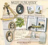 Tonga  Niuafo'ou SG 112MS 1989 Mutiny Of The Bounty MS MNH - Tonga (1970-...)