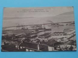 The Dockyard () Part Of The British And American Fleets / Gibraltar - Anno 19?? ( Zie Foto Voor Details ) !! - Gibraltar