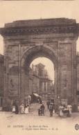 G , Cp , 58 , NEVERS , La Porte De Paris Et L'Église Saint-Pierre - Nevers