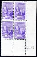 Monaco - YT N° 279  Bloc De 4 Coin Daté - Neuf ** - MNH - Cote: 10,00 € - Ungebraucht