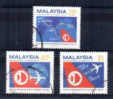 Malaysia - 1986 - Malay Airlines 1st Flight Kuala Lumpur/Los Angeles - Used - Malaysia (1964-...)