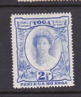Tonga SG 77 1942 Queen Salote Two And Half Pence Ultramarine  Mint - Tonga (1970-...)