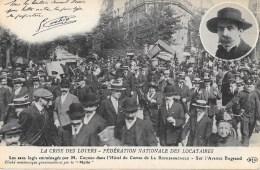 75 PARIS - Crise Des Loyers - Fédération Nationale Des Locataires - Les Sans Logis Emménagés Par M. COCHON  ...  ELD - Non Classés