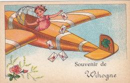 Souvenir De Wihogne (animée, Avion, Trèfle, Rose) - Awans
