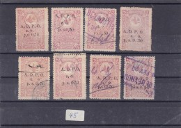 Lebanon_liban Ottoman Period ADPO  Z.O. PS 0,50 Lot 8 Stamps Varieties, Large&small,coma, Etc.. Lot 45-As Scan-skrill - Lebanon