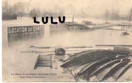DEPT 92 : Quai D Issy Les Moulineaux Crue De La Seine Janvier 1910 !  Location De Canots ( Dur Métier ) - Issy Les Moulineaux