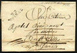 VOSGES: Pli De EPINAL De 1795 En Port Du Avec Marque Postale 82 EPINAL P St GILLES - Marcophilie (Lettres)
