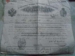 D138935 TRIEST Die K.k. Priv.Azienda   Assiguratrice -1843  RAAB (Györ,Hungary) - Autriche