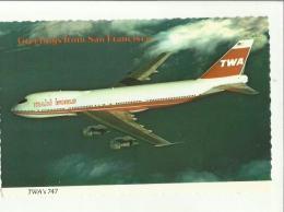 132085 TWA TRANS WORLD SERVICE BOEING 747 - 1946-....: Era Moderna