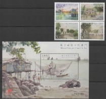 Macao - Macau (2016)  - Set + Block -  /   Art - Paintings - Peintres - Fishing - Peche - Pesca - Ships - Unused Stamps