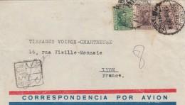1932 LETTRE URUGUAY  COVER   REGISTERED MONTEVIDEO  TO LYON FRANCE  CORRESPONDENCIA POR AVION / 7840 - Uruguay