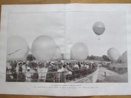 1906  La Coupe Aéronautique GORDON-BENNETT  Aerostat Le Ballon Montgolfiere L Elfe Vonwiller   Jardin Des Tuileries  +++ - Vieux Papiers