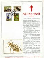 Feuillet D´art Tirage Limité 500 Exemplaires Frappe Or Fin 23 Carats 1738 à 1741 Solidariteit Fauna En Flora - Panes