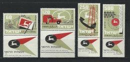 ISRAEL - N° 146 à 149  - Activités De La Poste - ** - Israel