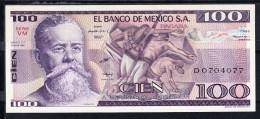 MÉXICO   1982     100  PESOS. V.CARRANZA.  NUEVO SIN CIRCULAR     B826 - México