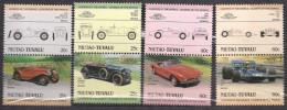 Niutao Tuvalu 1985  Cars, Wolseley Hornet Special, Crossley 25/30 HP,  BMW 507, Tyrell Ford 001, Mi 37-44  MNH(**) - Tuvalu