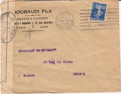 Bande De Controle Postal Militaire,censure 408 Sur Lettre De 1916 Pour La Suisse,2 Scans - Poststempel (Briefe)