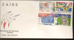 1989 Révolution Française Sur FDC Illustré - Zaïre