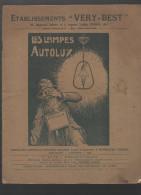 (Paris) Catalogue LAMPES AUTOLUX (etabl VERY BEST) 1925-26 (CAT 488) - Electricité & Gaz