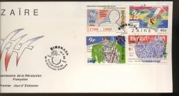 1989 Révolution Française Sur FDC Illustré - 1980-89: FDC