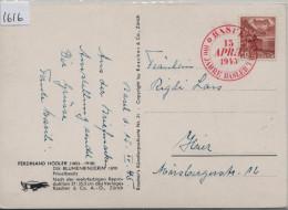 1945 100 Jahre Basler Taube 15. April 257 - AK Ferdinand Hodler Die Blumenbinderin - 363b - Schweiz