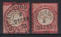 2 Timbres D'Allemagne Oblitérés STRASBOURG 2 Décembre 1873 - Other