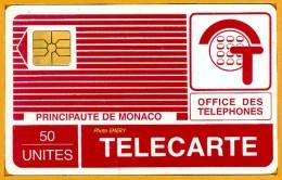 Monaco Télécarte Publique 1989 MP13 De 50u GEM Utilisée SUPERBE Tirage 10 000 - Monaco