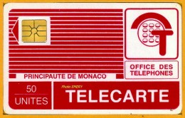 Monaco Télécarte Publique 1989 MP11A Série 142c, De 50u GEM Utilisée SUPERBE Tirage %de 10 000 - Monaco