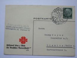 GERMANY 1937 POSTCARD WITH HILDBURGHAUSEN SONDERSTEMPEL - Briefe U. Dokumente