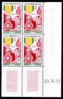 CAMEROUN - YT N° 296 Bloc De 4 Coin Daté - Neuf ** - MNH - Cote: 33,30 € - Cameroun (1915-1959)