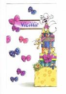 Double Carte Postale DIDDL - Vieillir - SOURIS MOUSE Cadeau Fromage Gruyère - Ours En Peluche - Collection TOI ET MOI - Diddl