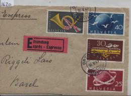 1949 Post & UPU 293, 295, 296 - Stempel: Oberdorf (Baselland) Expres Briefteil First Day - Schweiz
