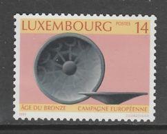 TIMBRE NEUF DU LUXEMBOURG - CAMPAGNE EUROPEENNE SUR L'AGE DE BRONZE N° Y&T 1298 - Preistoria