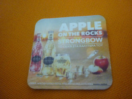Strongbow Apple Cider Beer Greek Sous-bock/Sous-verre/Beer Mat From Greece - Sous-bocks