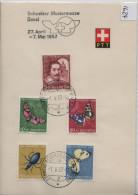 1957 PTT Bögli J163-J167 Stempel: Schweizer Mustermesse Basel  632-636 - Pro Juventute