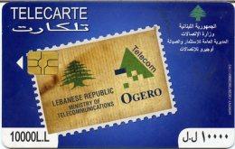 @+ TC Du Liban : Timbre / Stamp - Recto Anglais - Code 408LEB...