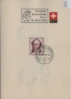 1955 PTT Bögli J153-J157 Stempel: Schweizer Mustermesse Basel  602-606 - Pro Juventute