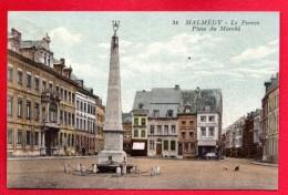 Malmédy. Place Du Marché. Fontaine-Perron( 1781- Jacques Hubin). Hôtel-Restaurant Des Eburons. 1931 - Malmedy