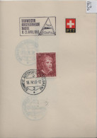1953 PTT Bögli J143-J147 Stempel: Schweizer Mustermesse Basel  575-579 - Lettres & Documents